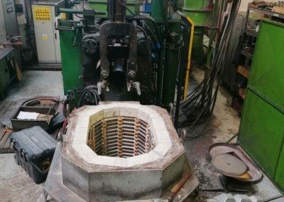Alfa-heat | Generální oprava vyzdívky hlubinné pece na tlakové lití